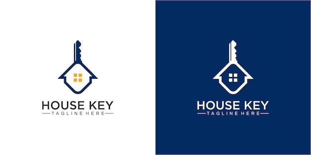 Modelo de design de logotipo creative house e key