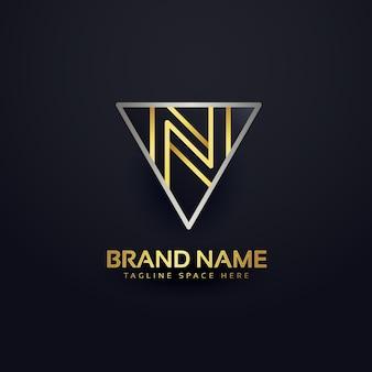 Modelo de design de logotipo criativo da carta n