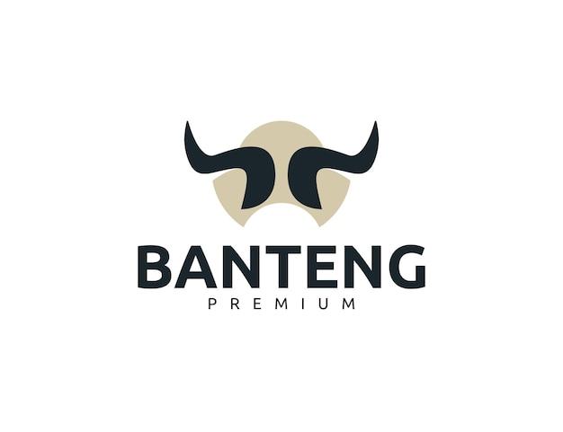 Modelo de design de logotipo criativo de chifre de touro forte
