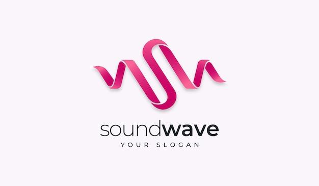 Modelo de design de logotipo criativo soundwave da letra s.