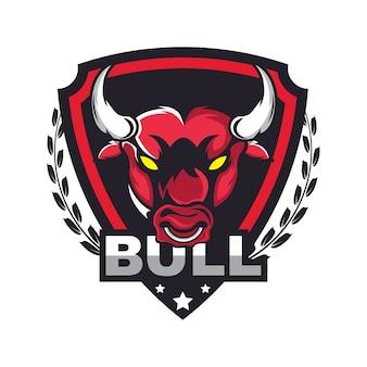 Modelo de design de logotipo da bull