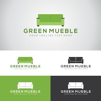 Modelo de design de logotipo da empresa de móveis