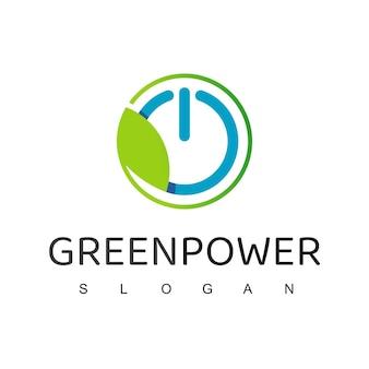 Modelo de design de logotipo da green power