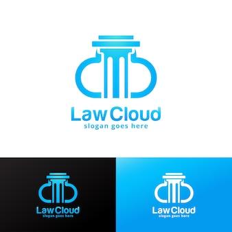 Modelo de design de logotipo da law cloud