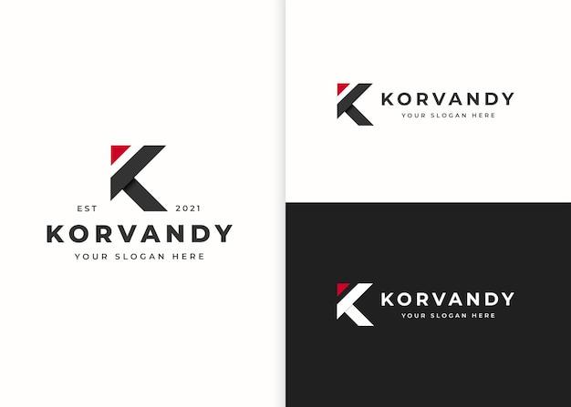 Modelo de design de logotipo da letra k. ilustrações vetoriais
