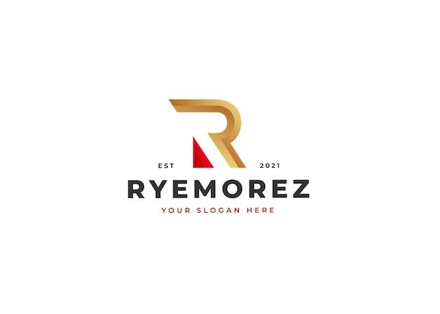 Modelo de design de logotipo da letra r. ilustrações vetoriais