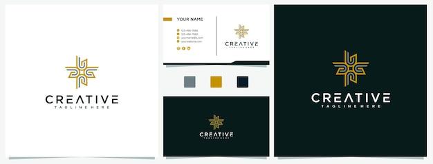 Modelo de design de logotipo da letra u