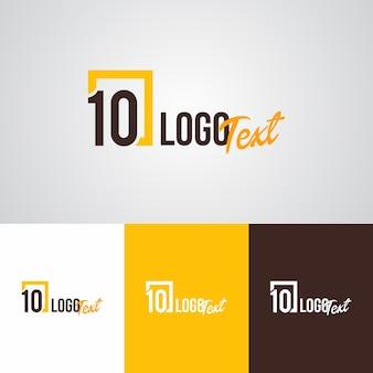 Modelo de design de logotipo da marca 10 moderna