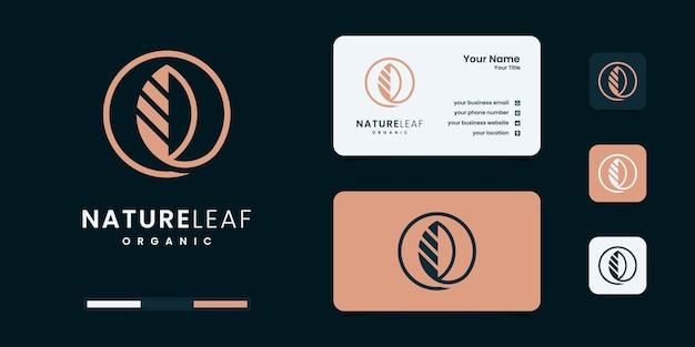 Modelo de design de logotipo da natureza da folha
