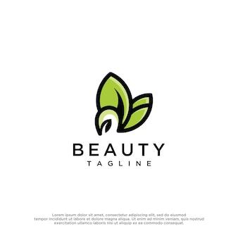 Modelo de design de logotipo da natureza verde