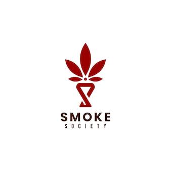 Modelo de design de logotipo da sociedade cannabis