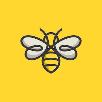 Modelo de design de logotipo de abelha