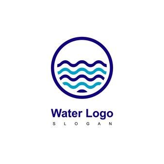 Modelo de design de logotipo de água do círculo