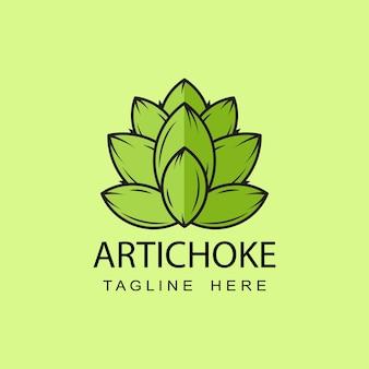 Modelo de design de logotipo de alcachofra