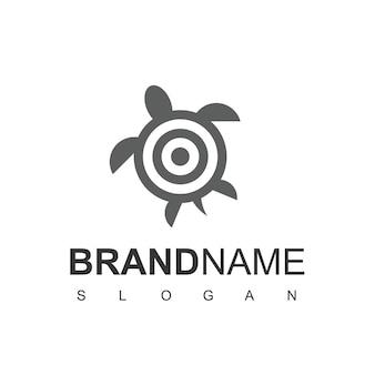 Modelo de design de logotipo de alvo de tartaruga
