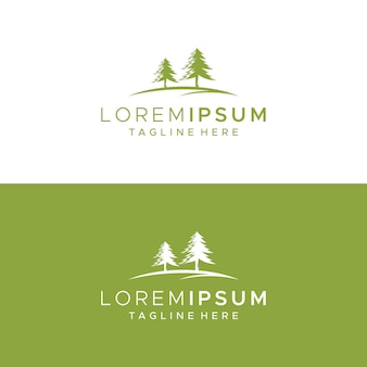 Modelo de design de logotipo de árvore