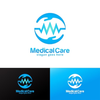 Modelo de design de logotipo de assistência médica