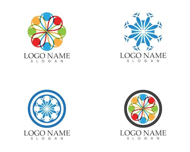 Modelo de design de logotipo de atendimento de pessoas da comunidade