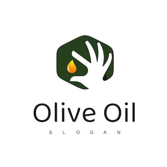 Modelo de design de logotipo de azeite