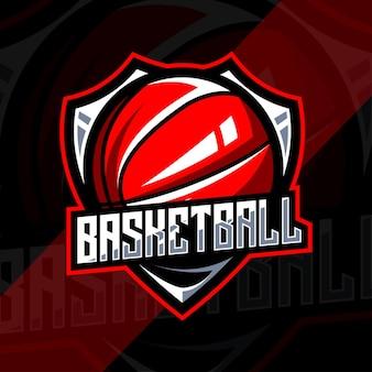 Modelo de design de logotipo de basquete
