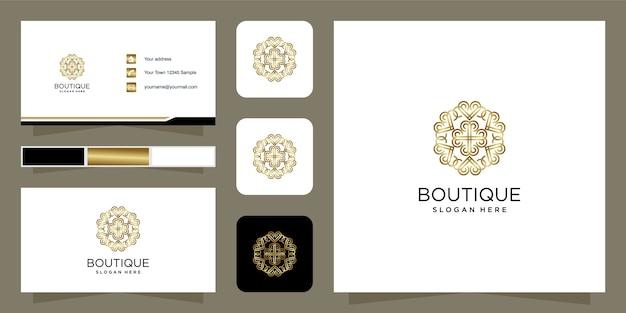 Modelo de design de logotipo de beleza de boutique