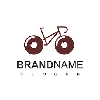 Modelo de design de logotipo de bicicleta donut