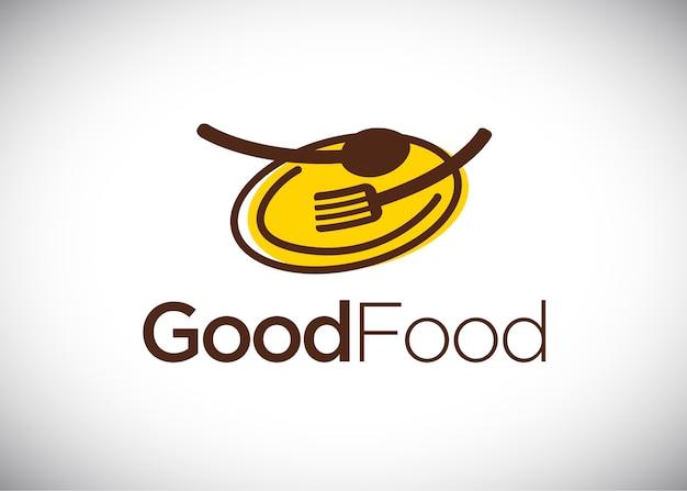 Modelo de design de logotipo de boa comida