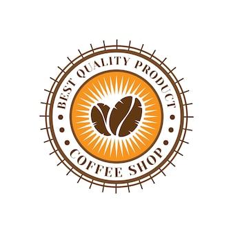 Modelo de design de logotipo de cafeteria