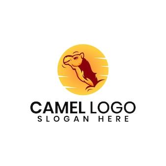 Modelo de design de logotipo de camelo