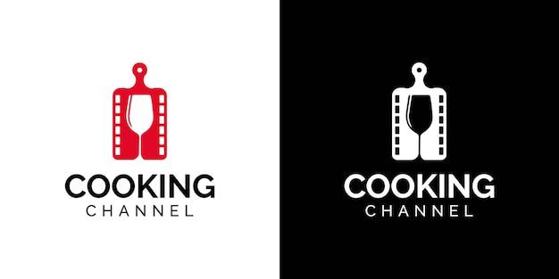 Modelo de design de logotipo de canal de culinária