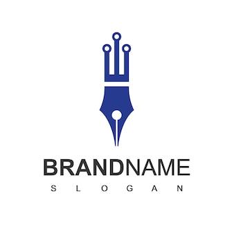 Modelo de design de logotipo de caneta