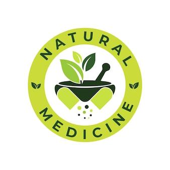 Modelo de design de logotipo de cápsula de ervas