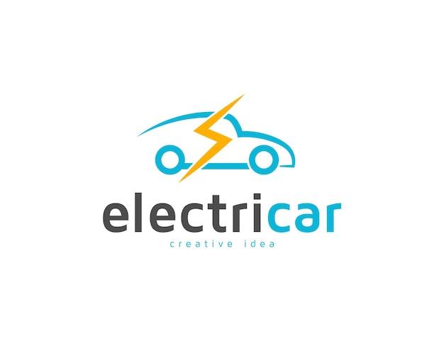 Modelo de design de logotipo de carro elétrico moderno