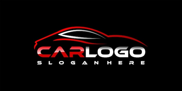 Modelo de design de logotipo de carro