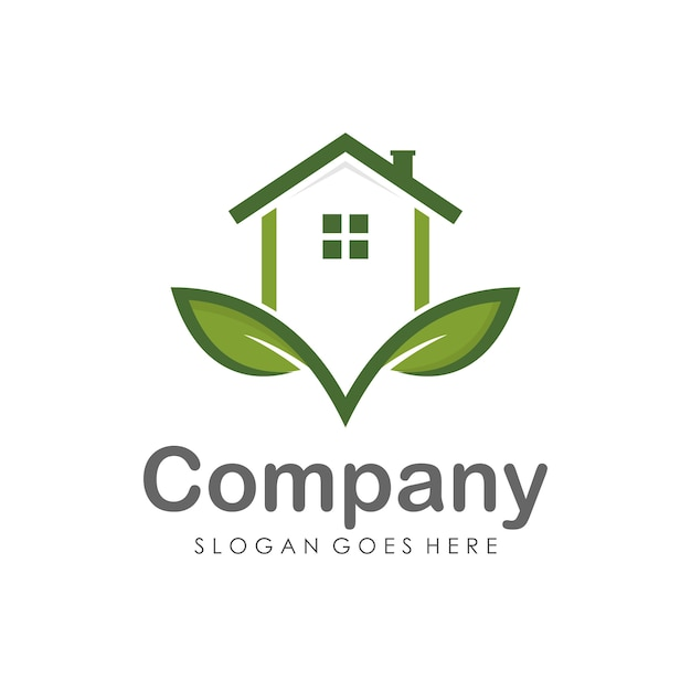 Modelo de design de logotipo de casa e imóveis