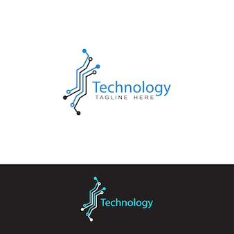 Modelo de design de logotipo de circuito de tecnologia