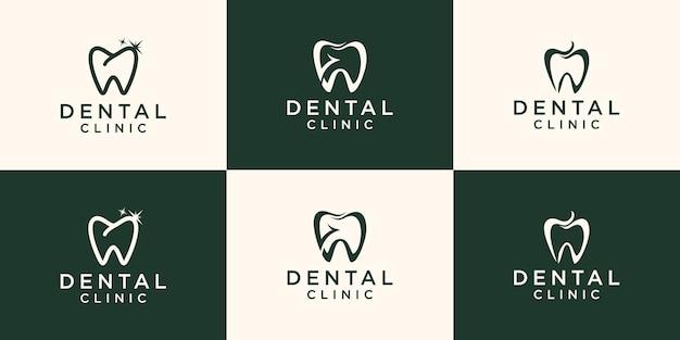 Modelo de design de logotipo de clínica de saúde dentária.