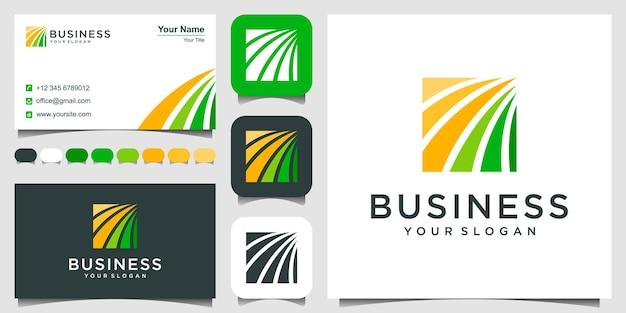 Modelo de design de logotipo de contabilidade e gestão financeira