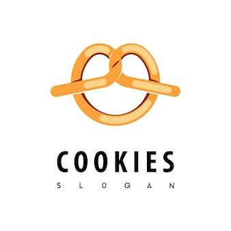 Modelo de design de logotipo de cookies