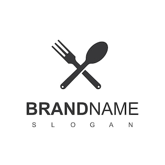 Modelo de design de logotipo de cozinha