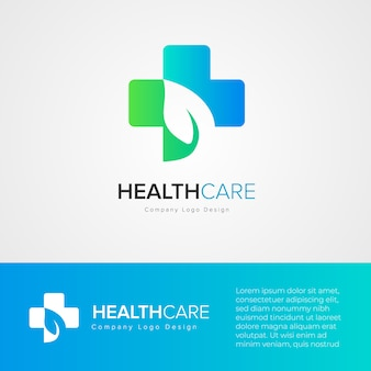 Modelo de design de logotipo de cuidados de saúde