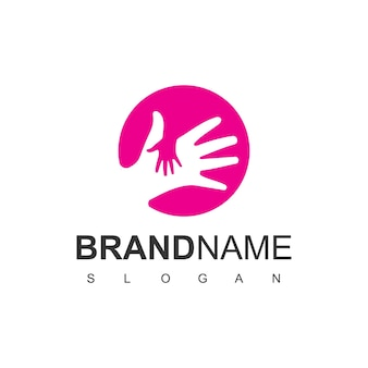 Modelo de design de logotipo de cuidados infantis