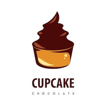 Modelo de design de logotipo de cupcake