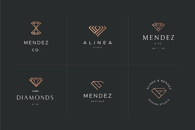 Modelo de design de logotipo de diamante