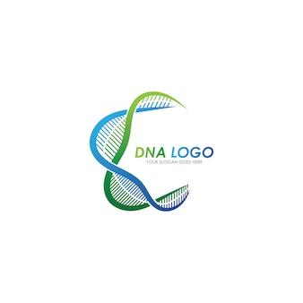Modelo de design de logotipo de dna. logotipo médico moderno.