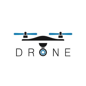 Modelo de design de logotipo de drone