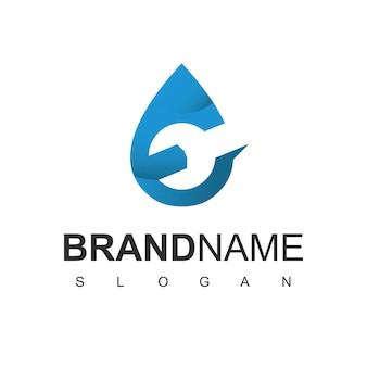 Modelo de design de logotipo de empresa de encanamento
