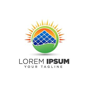 Modelo de design de logotipo de energia solar sun