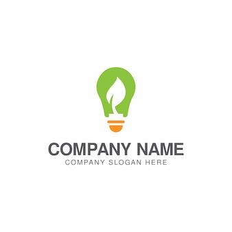 Modelo de design de logotipo de energia verde