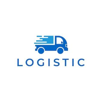 Modelo de design de logotipo de entrega expressa